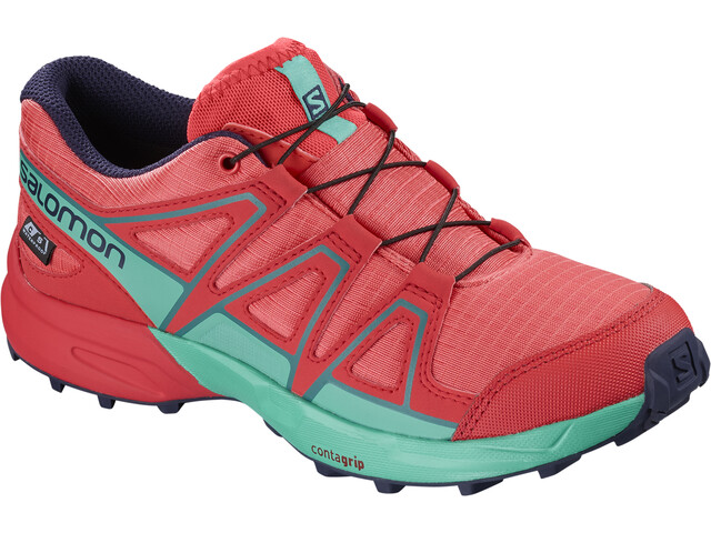 Salomon Speedcross CSWP Running Shoes Children pink/turquoise